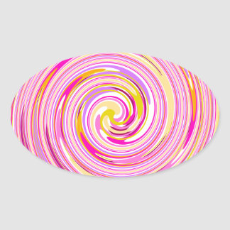 Candy Sweet Swirl Oval Sticker