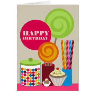 Candy & Sweets Birthday Card