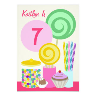 Candy & Sweets Birthday Party Invitation