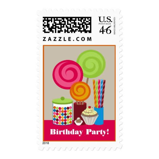 Candy & Sweets Birthday Party Postage Stamp