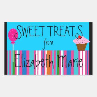 Candy Sweets Cupcake Rectangular Sticker