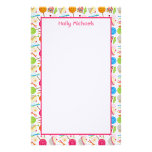 Candy & Sweets Pattern Personalized Stationery