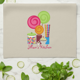 Candy Sweets Personalized Kitchen Towel