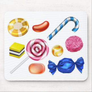 Candy Sweets Set Mouse Pad