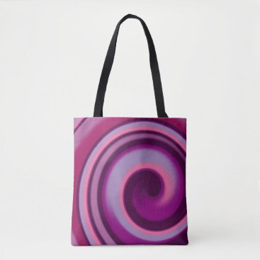 kellygalloway Candy Swirl All-Over-Print Tote Bag