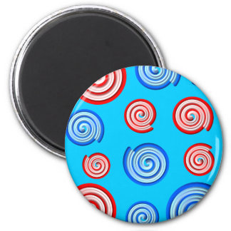 Candy Swirl Pattern Design Magnet