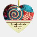Candy Swirls Adoption Announcement Ornament
