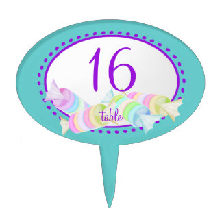 Candy Table Number Cake Topper