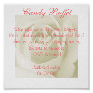 Candy Table Poem Posters