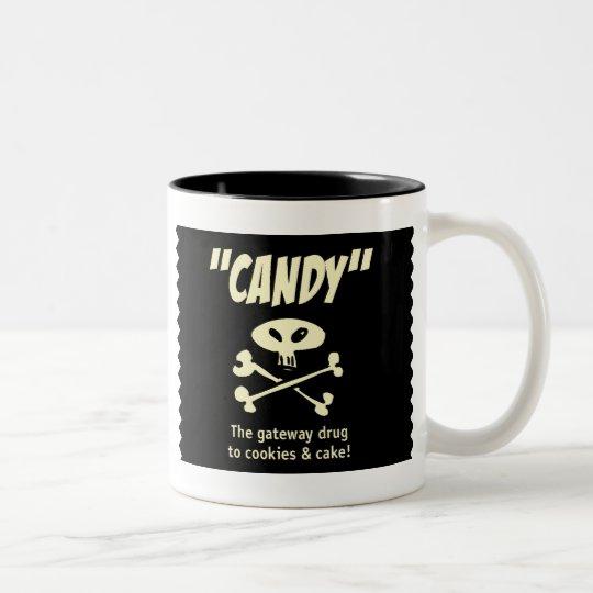 Candy – The gateway drug Two-Tone Coffee Mug