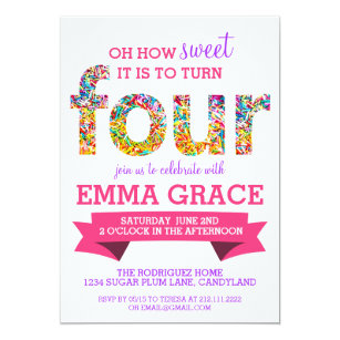 4th Birthday Invitations Announcements Zazzle