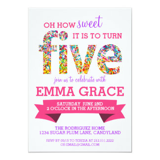 5th Birthday Party Invitations & Announcements | Zazzle