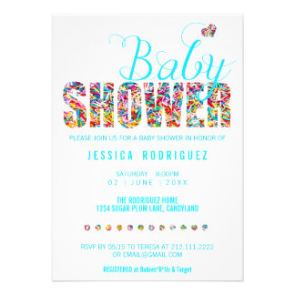 Candy Theme Baby Shower Party It s a Boy Cards