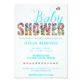 Candy Theme Baby Shower Party It's a Boy Card