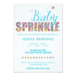 Candy Theme Baby SPRINKLE Shower Boy Card