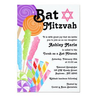 Candy Theme Bat Mitzvah Card