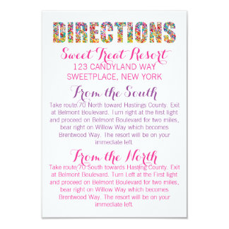 Candy Theme DIRECTIONS Card