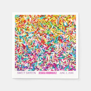 Toddler & Baby themed Candy Theme Party Napkin Sprinkles Sweet 16