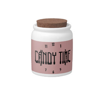 Candy Time Black Candy Jar