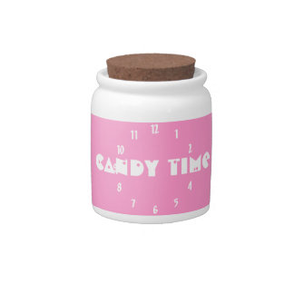 Candy Time White Candy Jar