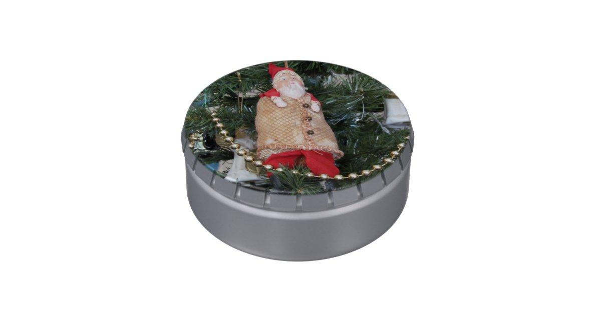 Candy Tin Old Fashioned Santa Ornament Zazzle