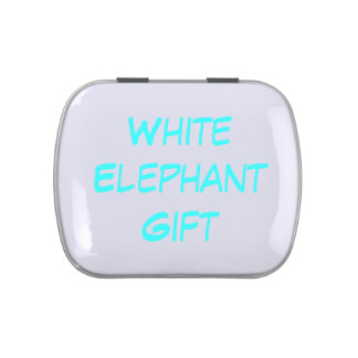 Candy Tin - White Elephant Gift