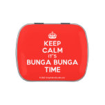 [Crown] keep calm it's bunga bunga time  Candy Tins