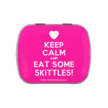 [Love heart] keep calm and eat some skittles!  Candy Tins