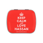 [Crown] keep calm and love hassan  Candy Tins