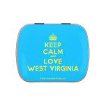 [Crown] keep calm and love west virginia  Candy Tins