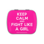 keep calm and fight like a girl  Candy Tins