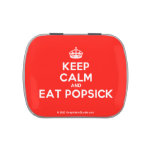 [Crown] keep calm and eat popsick  Candy Tins