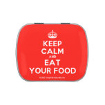 [Crown] keep calm and eat your food  Candy Tins
