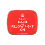 [Crown] keep calm and pillow fight on  Candy Tins