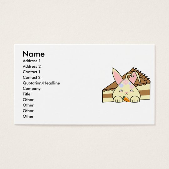 Candy Topped Vanilla Hopdrop And Cake Business Card