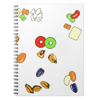 Candy treats spiral notebook