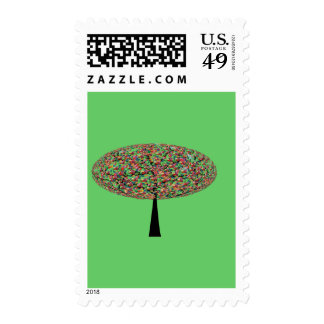Candy Tree Postage Stamp