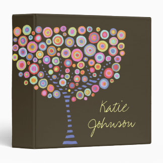 Candy Trees Retro Name Custom Folder Binder