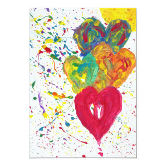 Candy Waters Autism Artist 5x7 Paper Invitation Card