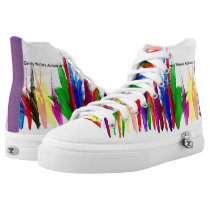 Candy Waters Autism Artist High-Top Sneakers