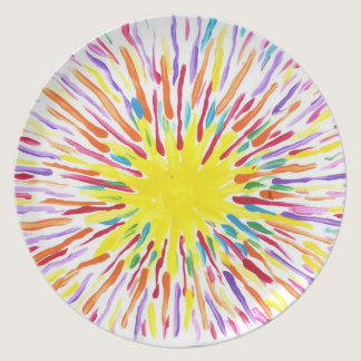 Candy Waters Autism Artist Melamine Plate