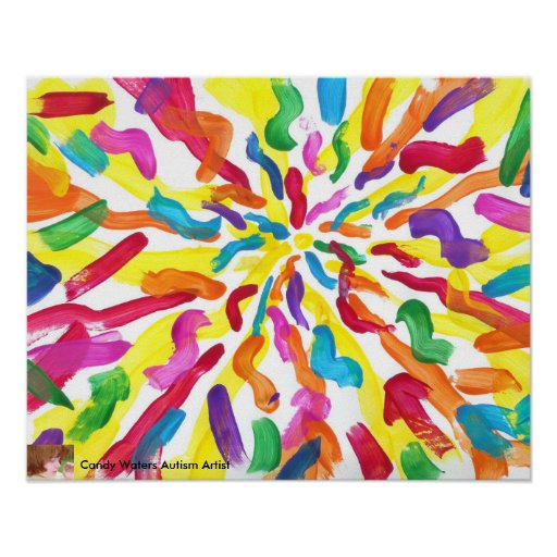 Candy Waters Autism Artist Painting Poster