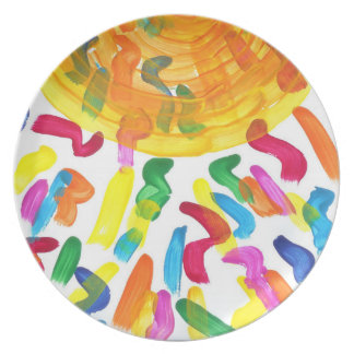 Candy Waters Autism Artist Party Plates