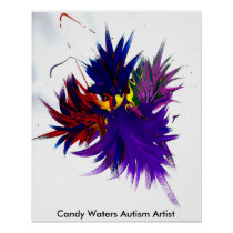 Candy Waters Autism Artist Poster