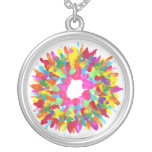 Candy Waters Autism Artist Round Pendant Necklace