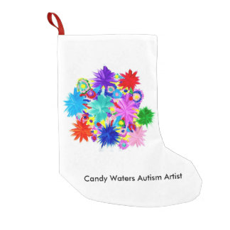 Candy Waters Autism Artist Small Christmas Stocking