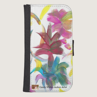 Candy Waters Autism Artist Wallet Phone Case For Samsung Galaxy S4