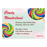 Candy wonderland custom logo prom admission ticket business card templates