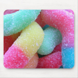 Candy worms mouse pad