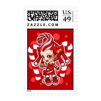 Candycane-chan Postage